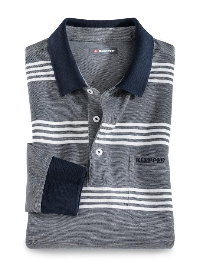Klepper Extraglatt Langarm-Polo