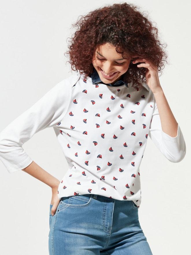 Baumwoll-Shirt Maritim