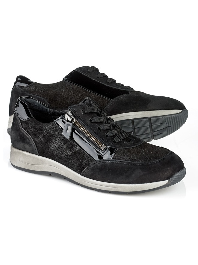 Reißverschluss-Sneaker Glitzermix