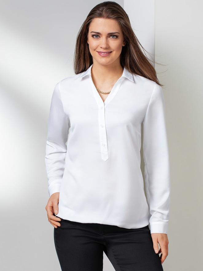 Blaue + Weiße Blusen Sale