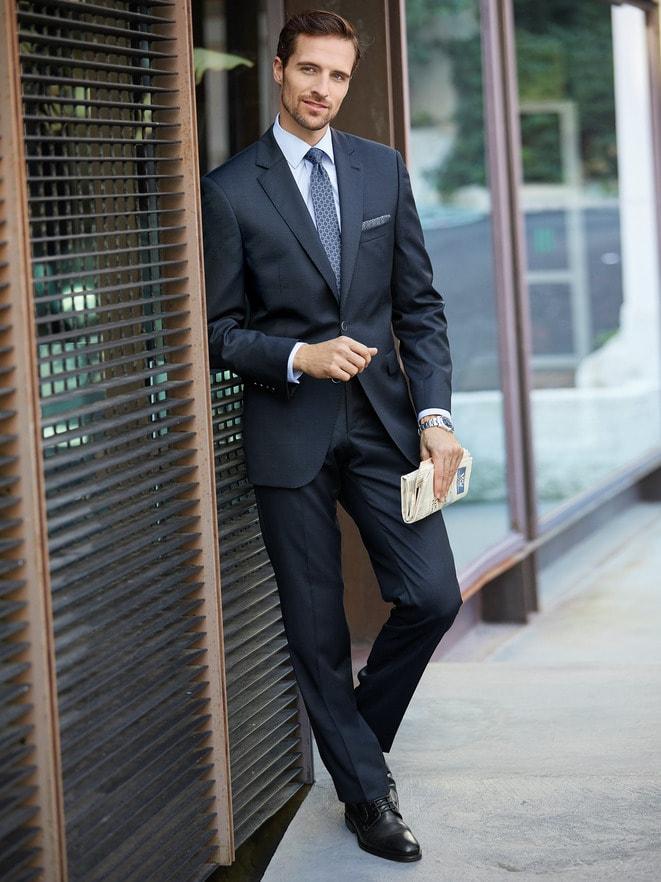 Biella Anzug Super 110 Schwarz