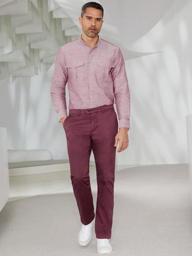Outfit Künstler-Stehkragen-hemd