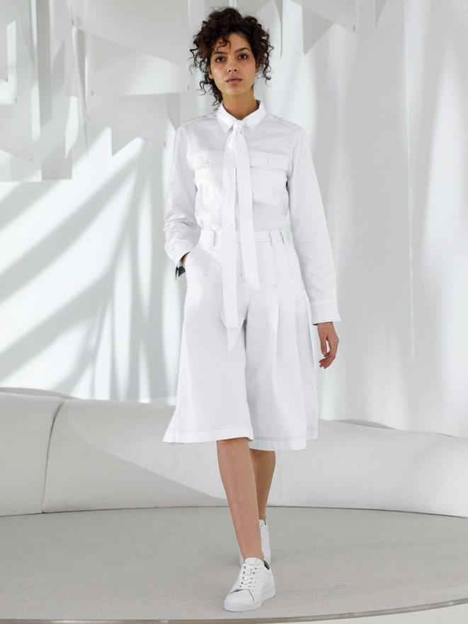 Outfit Pima-Cotton-Hemdbluse-Palme