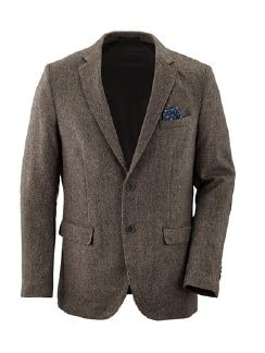 Komfort-Tweed Sakko Braun/Beige Detail 5