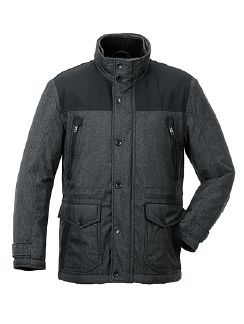 Aquastop Jacke Techno-Wool Anthrazit Detail 5