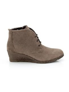 Keilabsatz-Boot Dame Taupe Detail 4