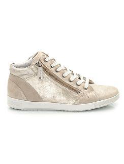 Hightop-Sneaker Puderstaub Gold Detail 5